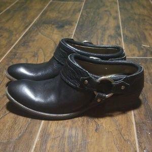 Frye western black mules size 9